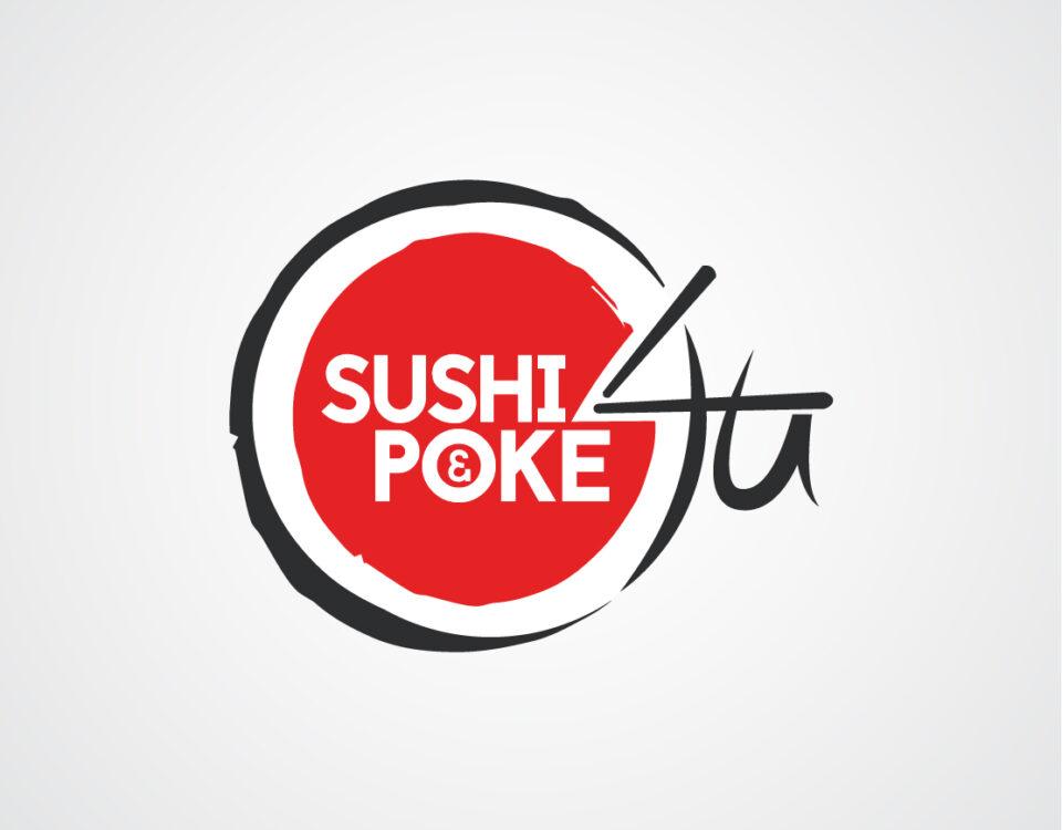 sushi and poke 4 u logo ontwerp almere